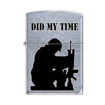 Zippo Lighter - Did My Time Street Chrome - Lighter USA