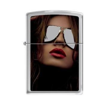 Zippo Lighter - Shades High Polish Chrome - Lighter USA