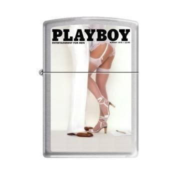 Zippo Lighter - Playboy Cover August 1978 Brushed Chrome - Lighter USA