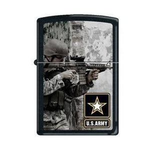 Zippo Lighter - Army Soldier Black Matte