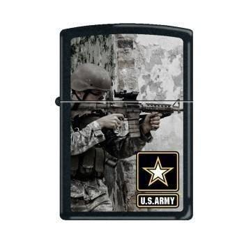 Zippo Lighter - Army Soldier Black Matte - Lighter USA