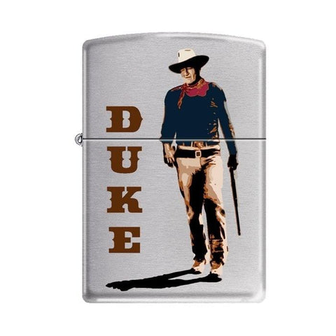 Zippo Lighter - John Wayne Walking Tall Brushed Chrome - Lighter USA - 1