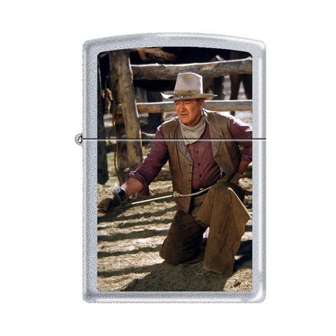 Zippo Lighter - John Wayne The Cowboys Satin Chrome - Lighter USA - 1