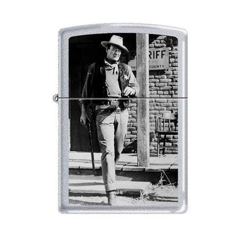 Zippo Lighter - John Wayne Rio Bravo Satin Chrome - Lighter USA - 1