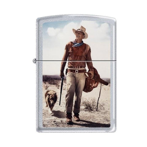 Zippo Lighter - John Wayne Hondo Satin Chrome - Lighter USA - 1