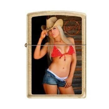 Zippo Lighter - Sexy Cowgirl Gold Dust - Lighter USA
