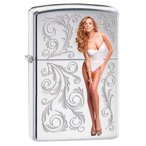 Zippo Lighter - Only For You High Polish Chrome