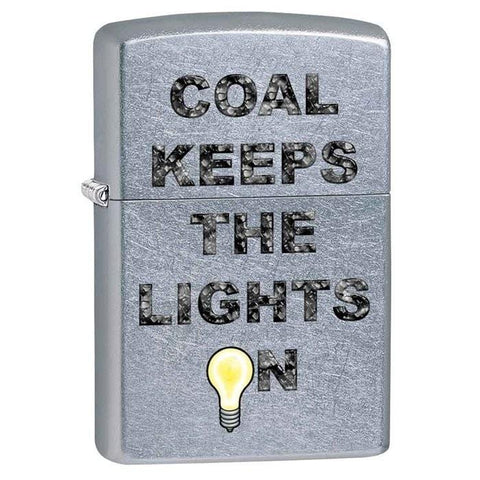 Zippo Lighter - Coal Keeps The Lights On Street Chrome - Lighter USA - 1