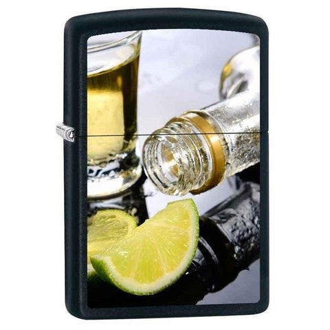 Zippo Lighter - Twist of Lime Black Matte - Lighter USA - 1