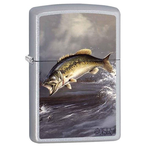 Zippo Lighter - Bass by Blaylock Satin Chrome - Lighter USA - 1
