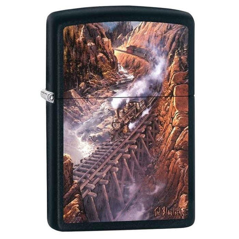 Zippo Lighter - Black Canyon Express Black Matte - Lighter USA - 1