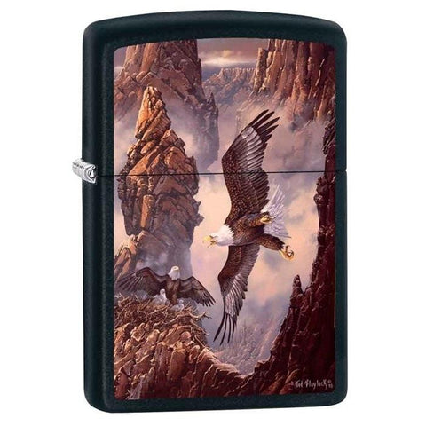 Zippo Lighter - Canyon Family Black Matte - Lighter USA - 1