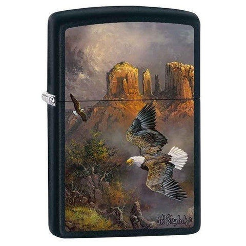 Zippo Lighter - Sedona Serenade Eagle Black Matte - Lighter USA - 1