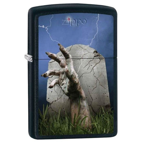 Zippo Lighter - Hand Rising From Grave - Lighter USA - 1