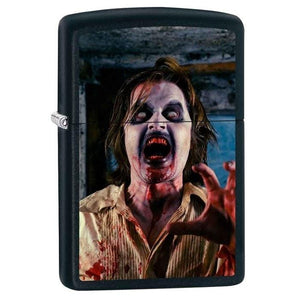 Zippo Lighter - Zombie Screaming Black Matte