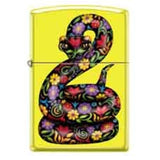 Zippo Lighter - Snake Neon Yellow - Lighter USA - 1