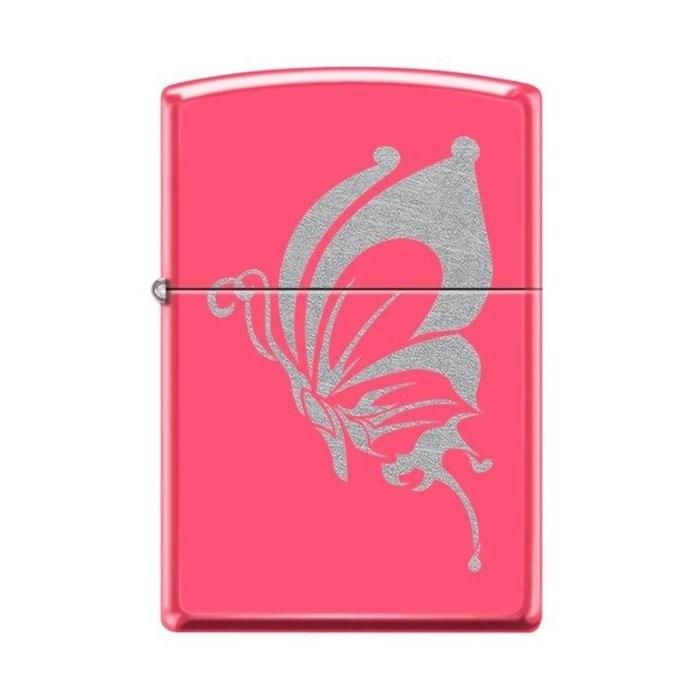 Zippo Lighter - Butterfly Neon Pink - Lighter USA - 1
