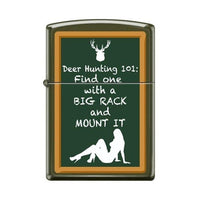 Zippo Lighter - Hunting 101 Green Matte
