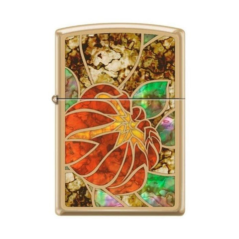 Zippo Lighter - Lotus Stained Glass Fusion - Lighter USA - 1