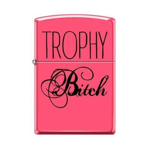 Zippo Lighter - Trophy Bitch Neon Pink - Lighter USA - 1