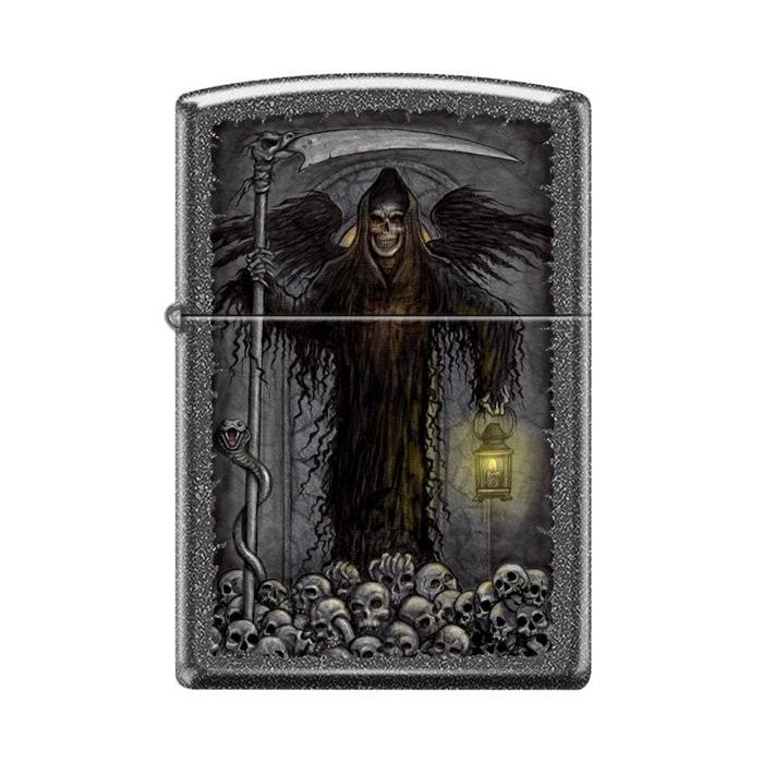 Zippo Lighter - Grim Reaper Ironstone - Lighter USA