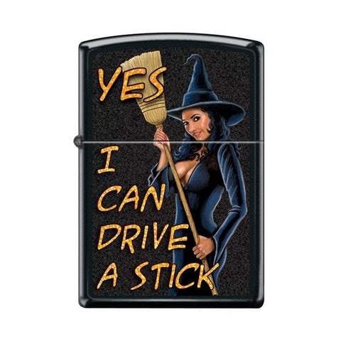 Zippo Lighter - Yes I Can Drive A Stick Black Matte - Lighter USA - 1