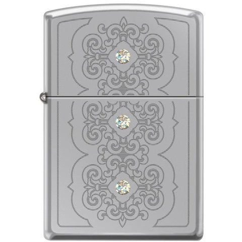 Zippo Lighter - Rotary 3 Stone Hi Polished Chrome - Lighter USA - 1
