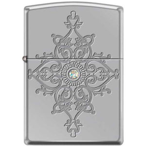 Zippo Lighter - Deep Carved Armor High Polished Chrome