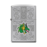 Zippo Lighter - Dazzling Dragon High Polish Chrome Lighter Zippo - Lighter USA