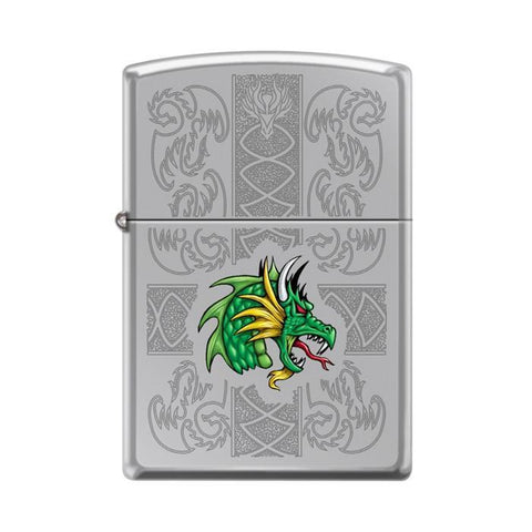 Zippo Lighter - Dazzling Dragon High Polish Chrome