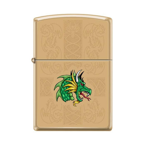 Zippo Lighter - Dazzling Dragon High Polish Brass