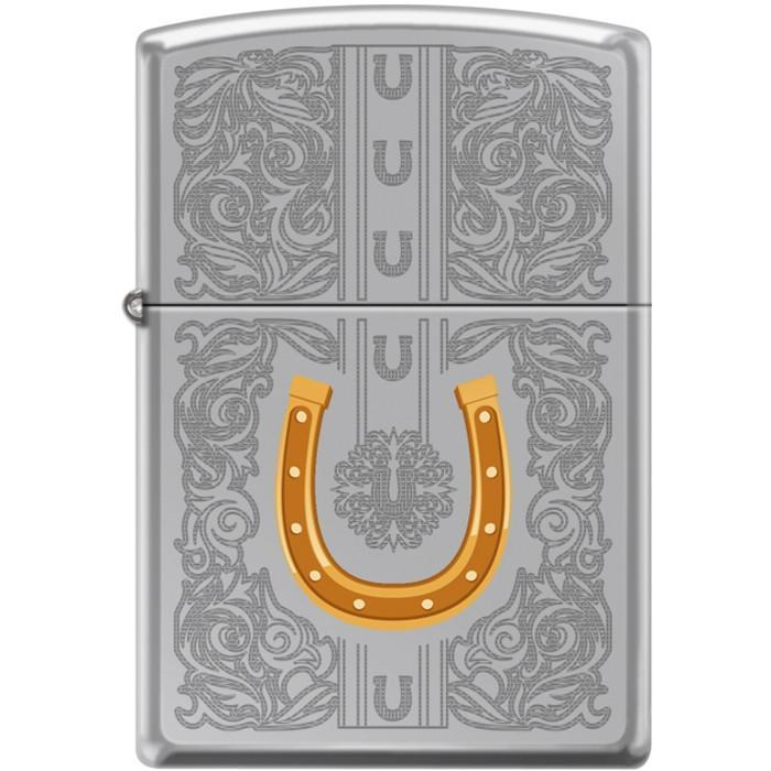 Zippo Lighter - Dazzling Horseshoe High Polish Chrome Lighter Zippo - Lighter USA