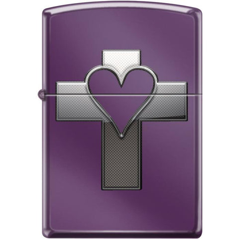 Zippo Lighter - Heart & Cross Abyss