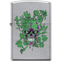 Zippo Lighter - Peeking/Laughing Skull Street Chrome Lighter Zippo - Lighter USA