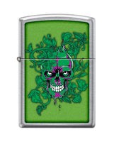 Zippo Lighter - Hidden/Laughing Skull Meadow Lighter Zippo - Lighter USA