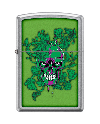 Zippo Lighter - Hidden/Laughing Skull Meadow