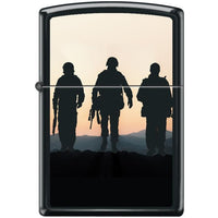 Zippo Lighter - Soldiers at Sunset Black Matte