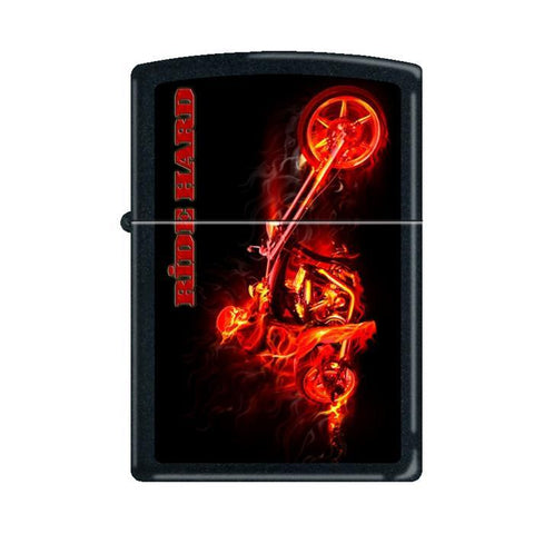 Zippo Lighter - Night Devil Black Matte
