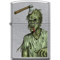 Zippo Lighter - Zombie Axe Head Street Chrome
