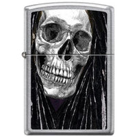 Zippo Lighter - Neal Taylor Skull Dreads Street Chrome Lighter Zippo - Lighter USA