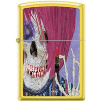 Zippo Lighter - Neal Taylor Skull Lipstick Lemon Lighter Zippo - Lighter USA