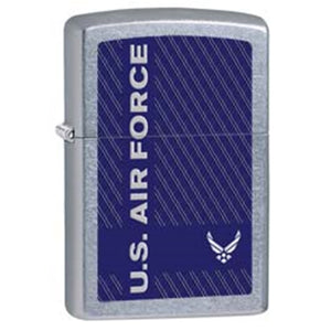 Zippo Lighter - US Air Force Street Chrome