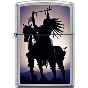 Zippo Lighter - Indian on Horse Street Chrome
