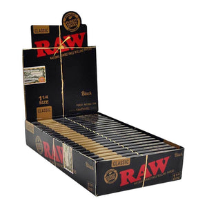 RAW Black Rolling Papers - 1¼ - Lighter USA