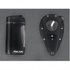 Xikar X1 Black Cutter & Executive Black Lighter Gift Set