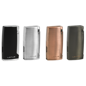 Black Label Kronos Triple Torch Lighter w/ Cigar Punch - Matte Finish