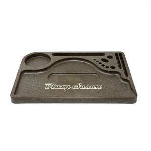 Blazy Susan Hemp Plastic Rolling Tray - Lighter USA