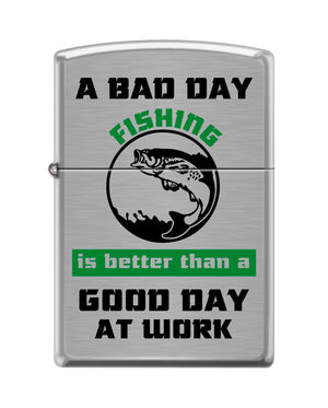 Zippo Lighter - Bad Day Fishing