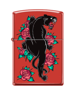 Zippo Lighter - Panther w/ Roses