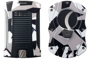 Colibri Daytona Lighter & Quasar Cigar Cutter Gift Set - Camo